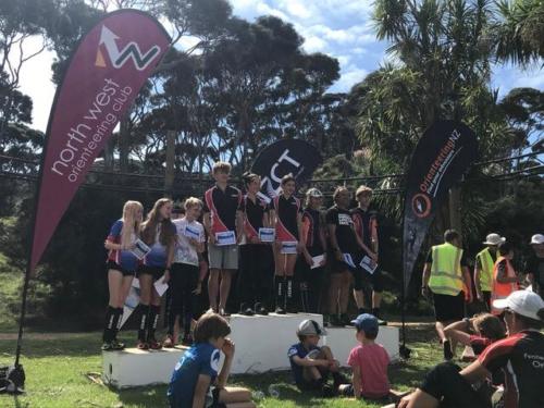 NZOC 2021 winning relay team